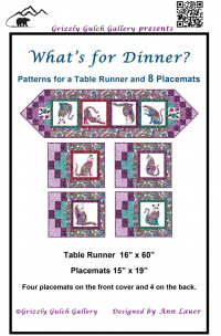 What's for Dinner Tablerunner Placemat Pattern - Product Image