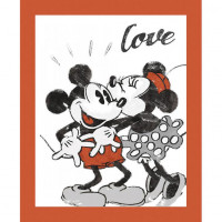 Mickey and Minnie Love Panel - Product Image