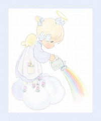 Precious Moments Angel & Rainbow Panel - Product Image