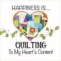 """Happiness is Quilting  To My Heart's Content 6"""" Panel - Product Image"""