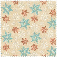 Cocoa Cookies Flannel -Tan Snowflakes - Product Image