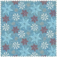 Cocoa Cookies Flannel - Blue Snowflakes - Product Image