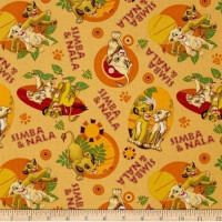 Simba & Nala All Over - Small Motifs - Product Image