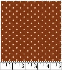 Woolies Flannel - Rust Dot - Product Image