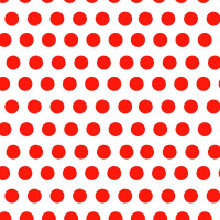 White with Red Dots - Product Image